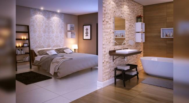 porcelanato branco para quarto moderno