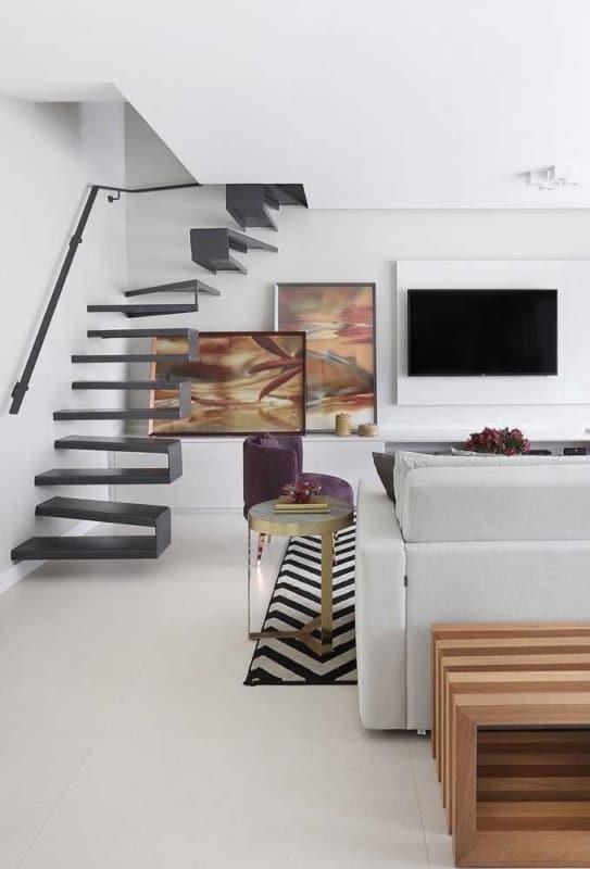porcelanato branco para sala de apartamento