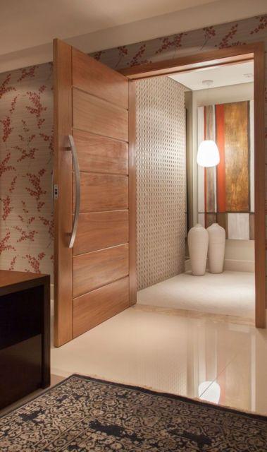 porta de madeira para sala moderna