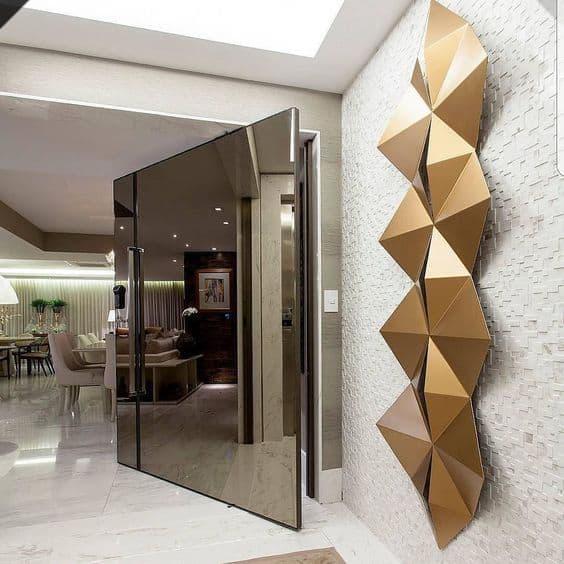 porta de vidro chique