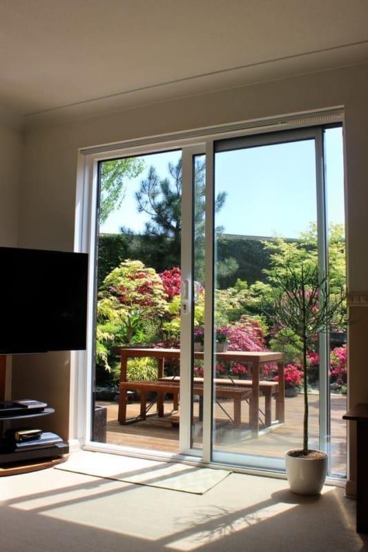 porta de vidro moderna