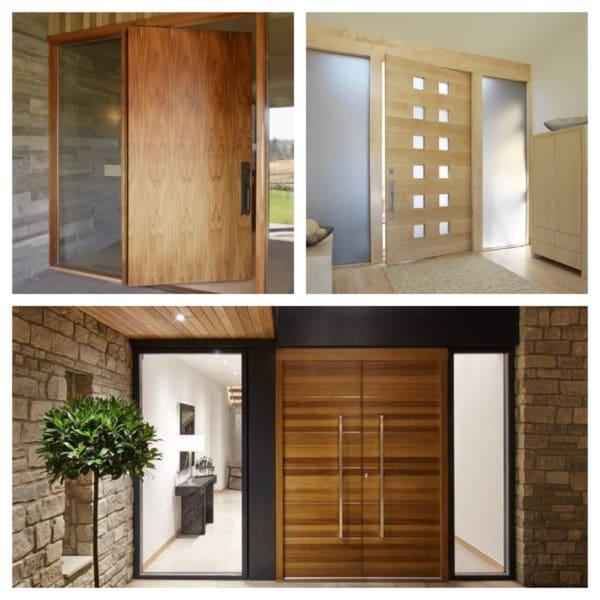 porta para sala de madeira