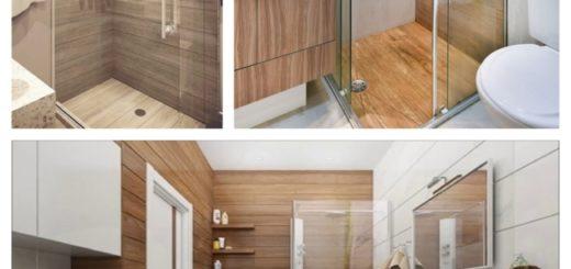 projetos de banheiro amadeirado