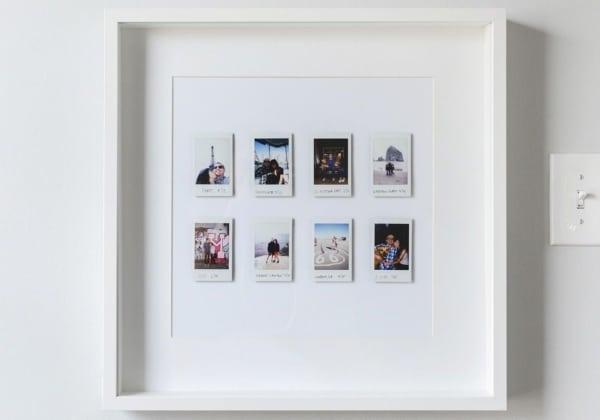 quadro minimalista de fotos