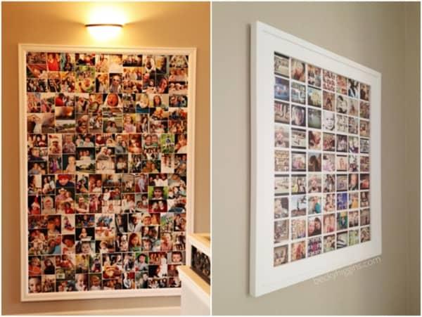 Duas opções de quadros grandes para fotos