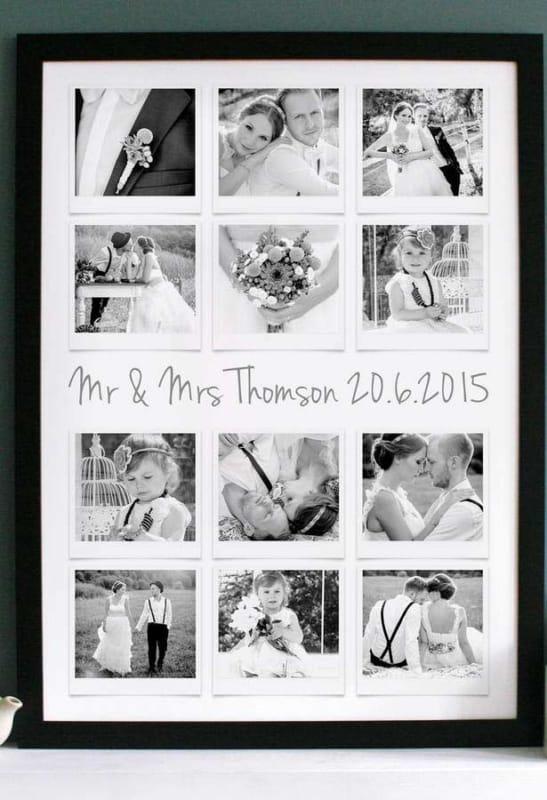 quadro de fotos de casamento