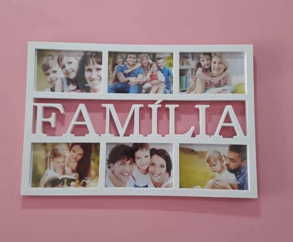 quadro de fotos de família