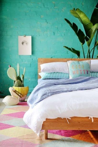 quarto com paredes verde água 26