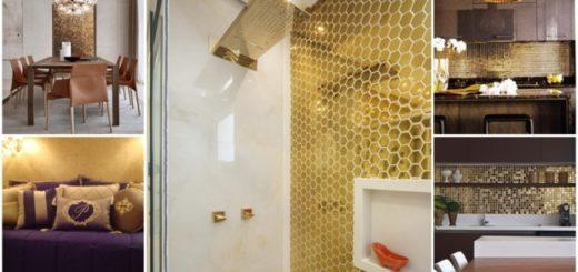 cor dourado na decoração 1