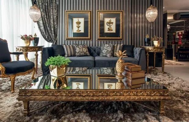 sala de estar com decoração clássica