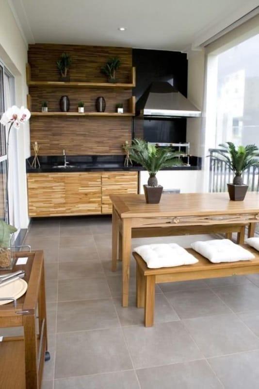 varanda gourmet de apartamento