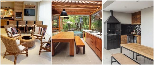 pisos para varanda gourmet