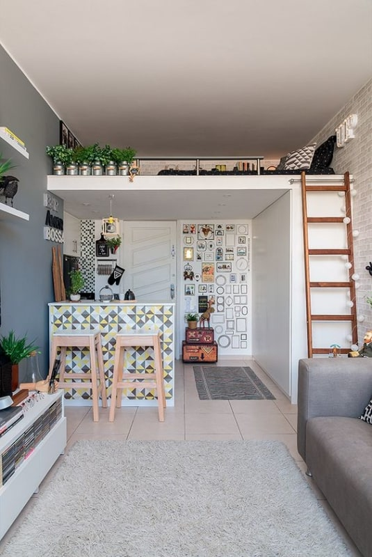 apartamento pequeno estilo loft