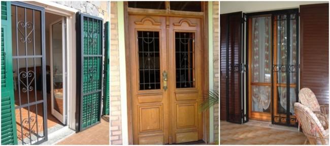 modelos de grade para porta