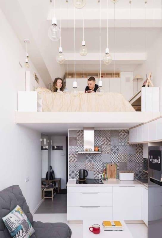 decoração loft pequeno e clean