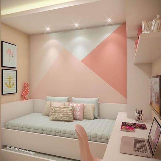 quarto azul e rosa