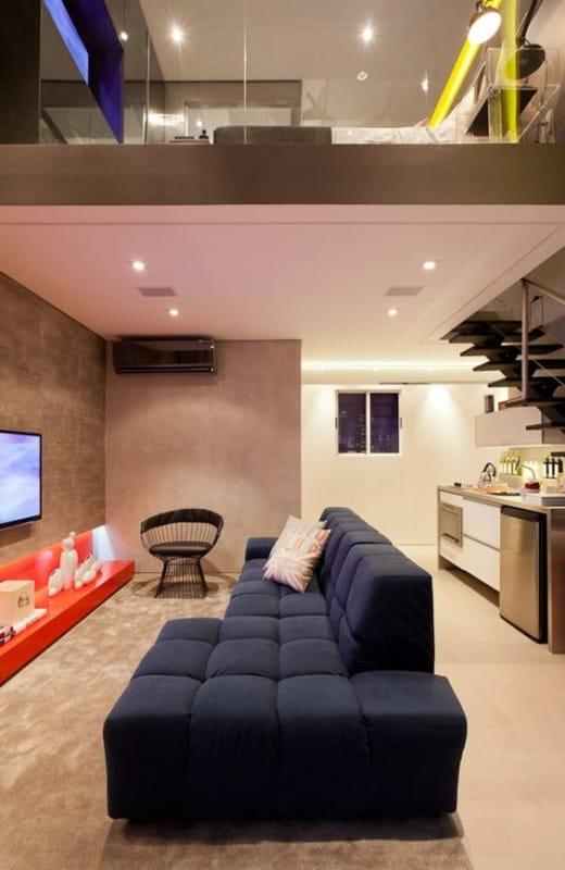 decoração de loft pequeno e moderno