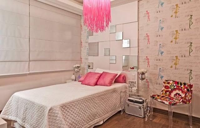 decoração moderna para quarto feminino
