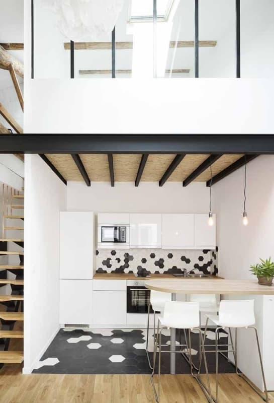 decoração apartamento pequeno com mezanino