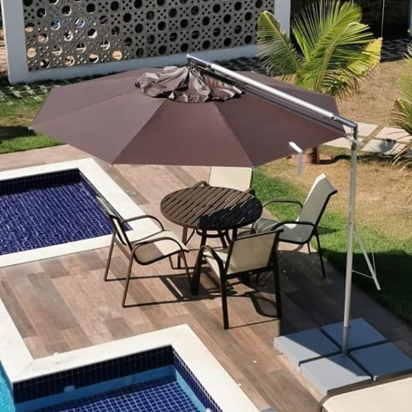 ombrelone de alumínio para piscina