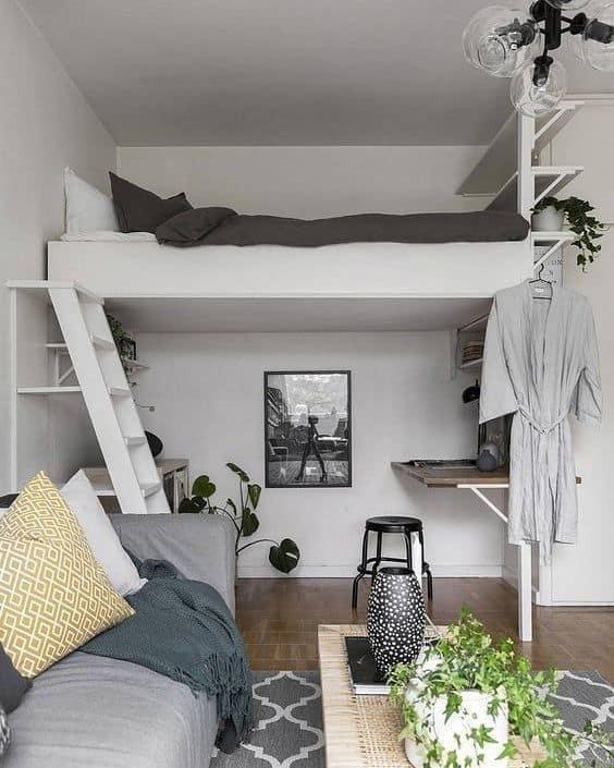 decoração loft simples