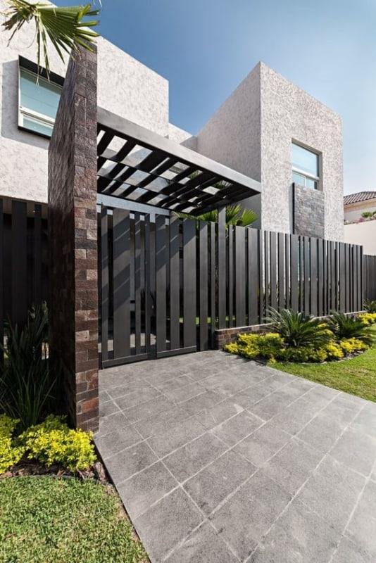 muro de ferro para fachada moderna