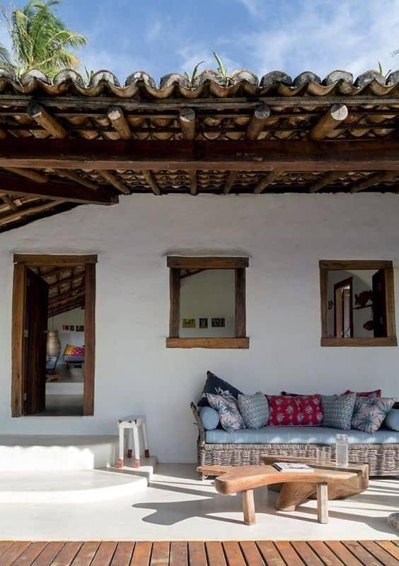 varanda simples e rústica