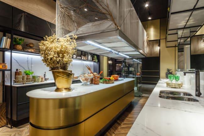 cozinha gourmet e luxuosa