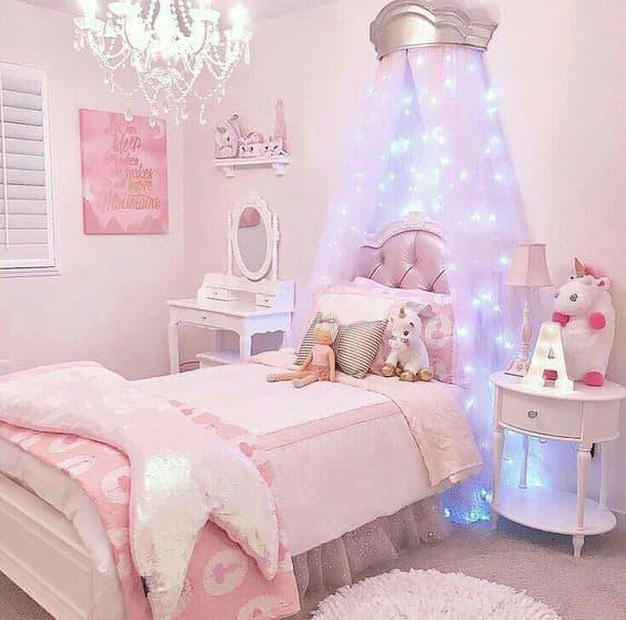 decoração quarto romântico infantil