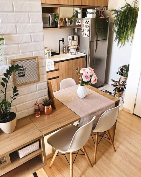 apartamento pequeno com cozinha americana