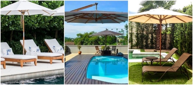 piscina com ombrelone