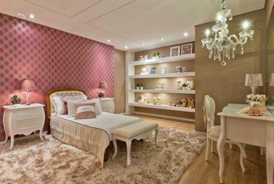 quarto com decoração de luxo