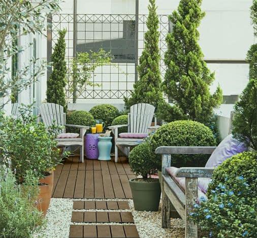 varanda decorada com grade
