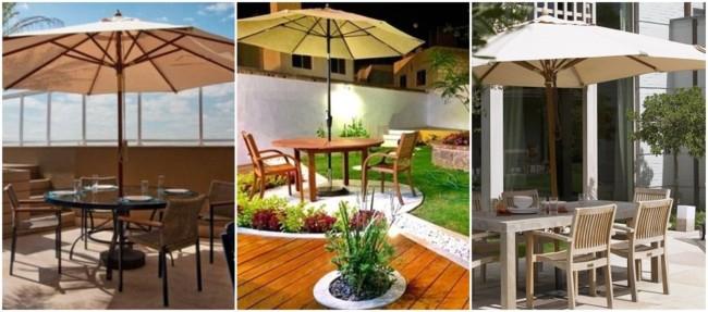 mesa com ombrelone