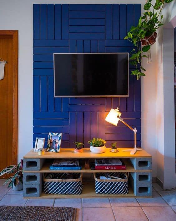 sala com decoração barata e criativa