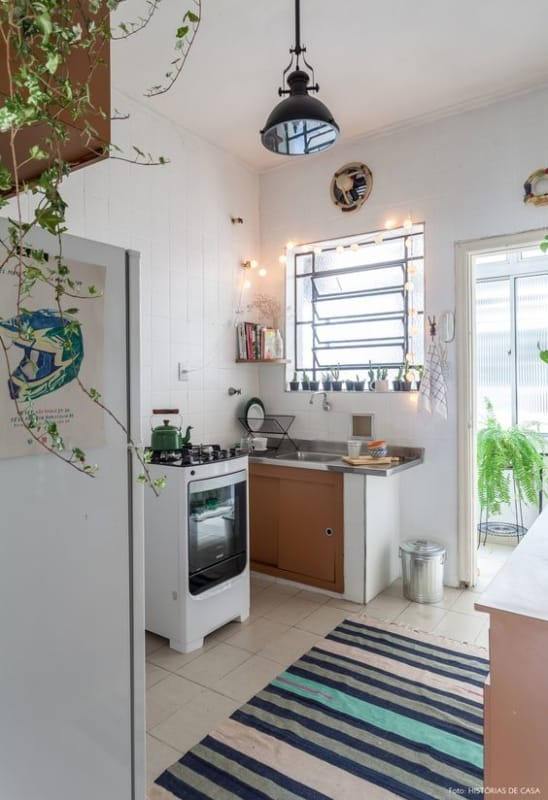 cozinha com ideias baratas de decoração