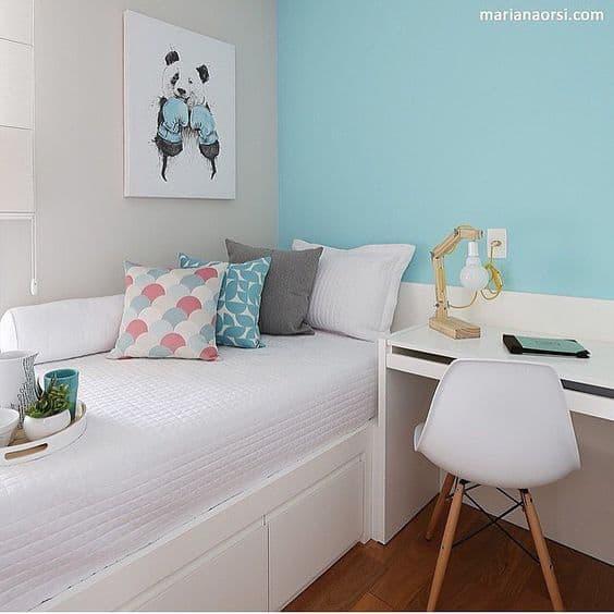 quarto azul menina