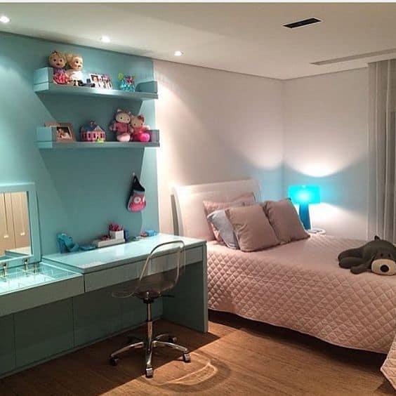 quarto planejado azul
