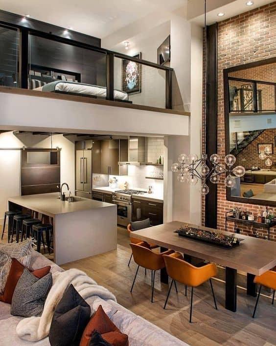 decoração moderna para ambientes integrados