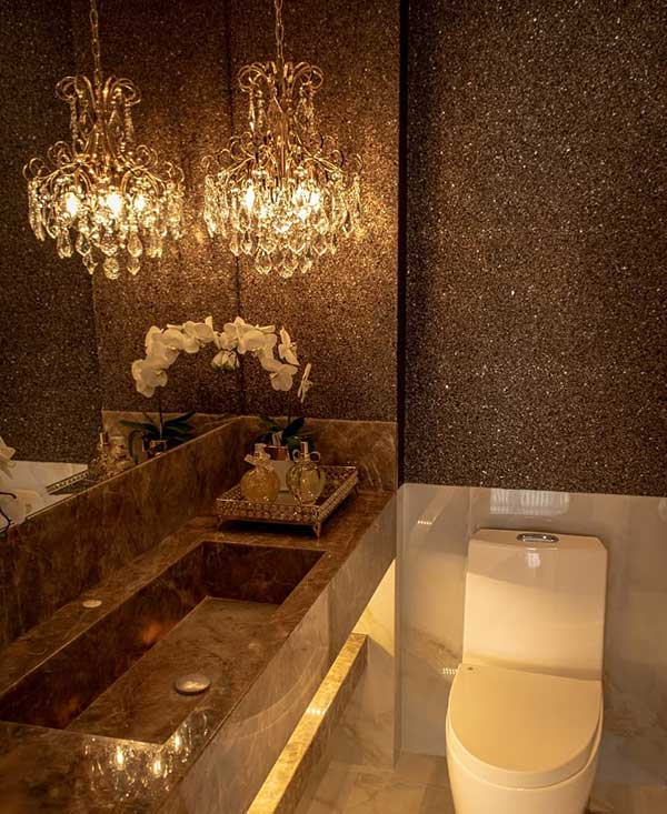 =lavabo com papel de parede de mica