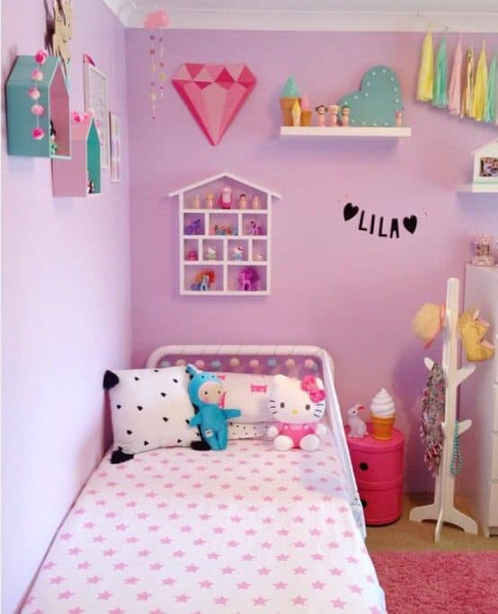 quarto infantil lilás