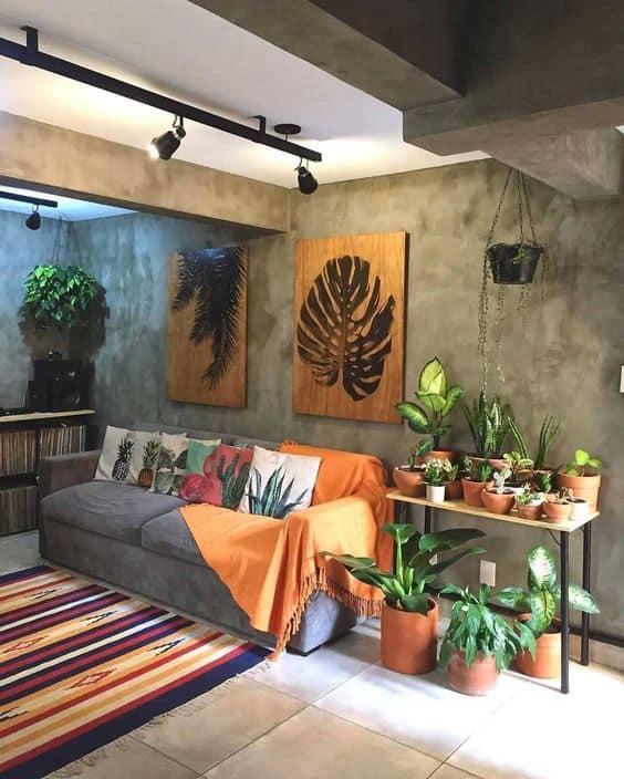 ideias de como usar plantas na decoração