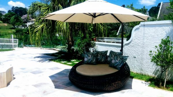 ombrelone lateral com sofá