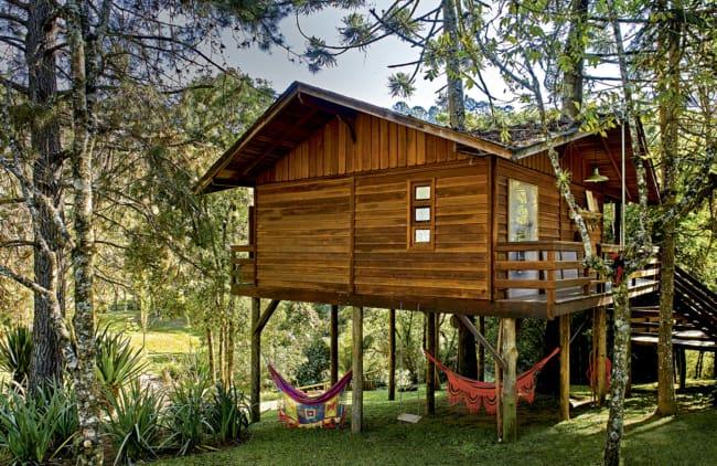 casa de campo de madeira