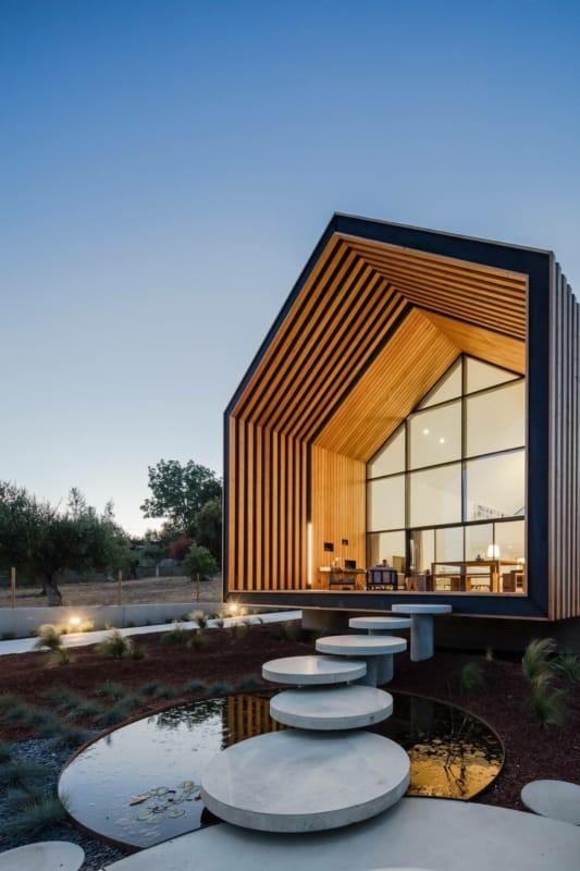 Casa com arquitetura moderna