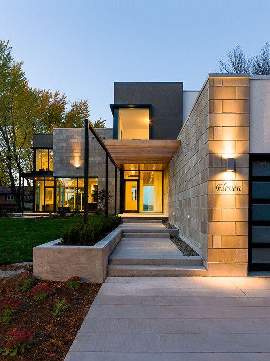 Casa moderna com entrada em concreto