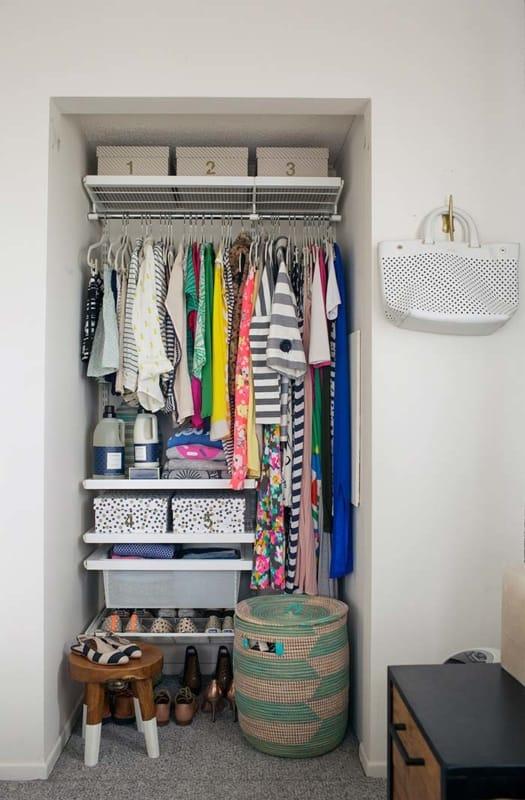 Closet pequeno como fazer