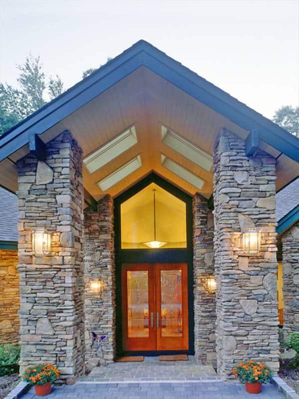 Colunas de pedra para entradas de casas