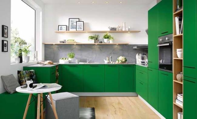 Cozinhas com armários verdes