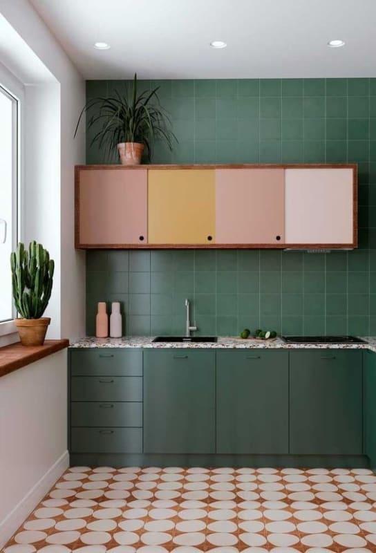 Dica para misturar cores com verde na cozinha